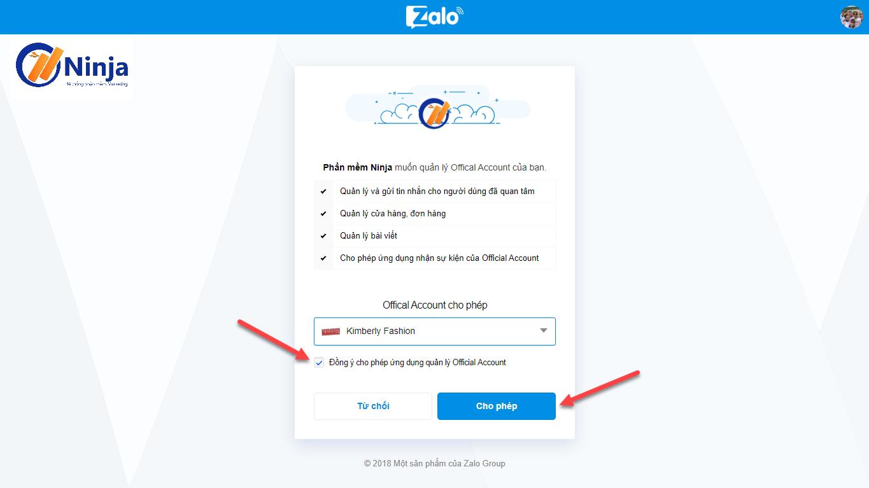 2 3 Hướng dẫn tạo và kết nối Official Account với Ninja Zalo