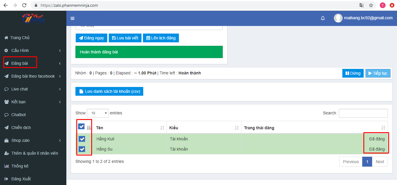 dang bai tu dong len zalo 1 Ninja Zalo giúp bạn đăng bài tự động lên Official Account cùng lúc