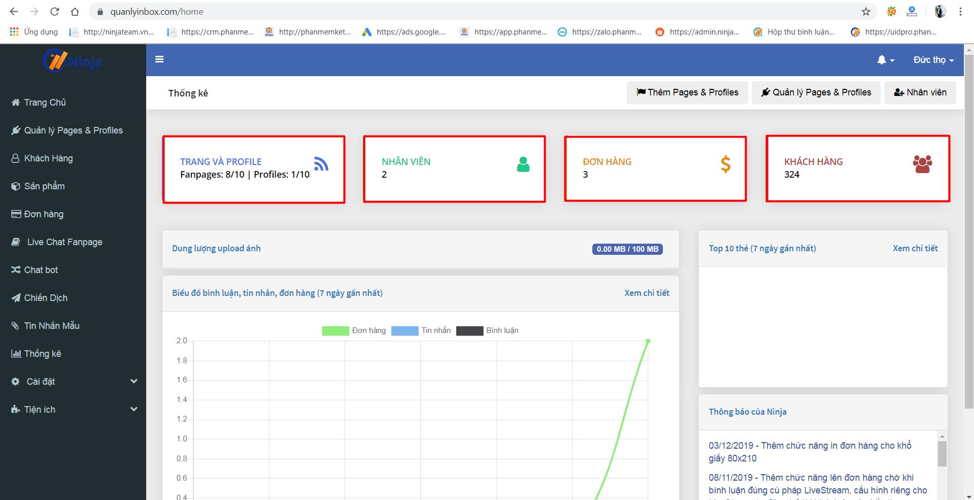 Ninja Fanpage – phần mềm quản lý inbox comment, chatbot thông minh hiệu quả - 281300