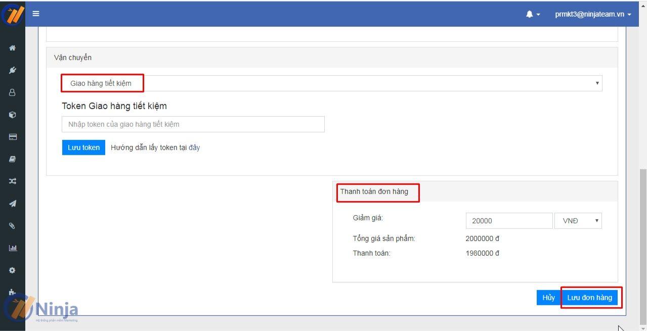 3 5 Quản lý khách hàng, sản phẩm bằng phần mềm Ninja Fanpage