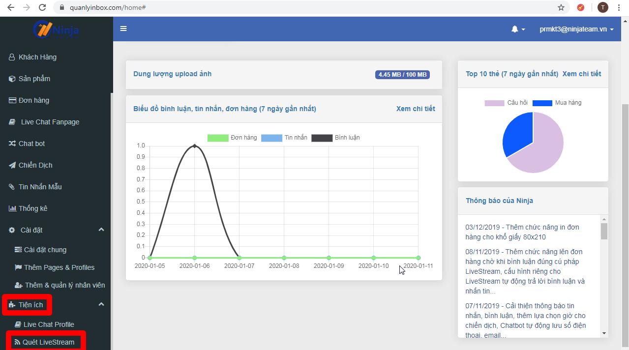 quet lstream4 Hướng dẫn tiện ích quét livestream bằng phần mềm Ninja Fanpage