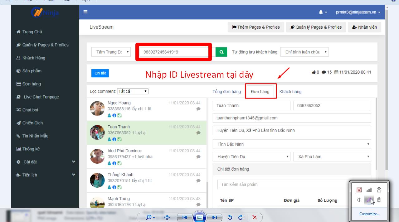 quet lstream5 Hướng dẫn tiện ích quét livestream bằng phần mềm Ninja Fanpage