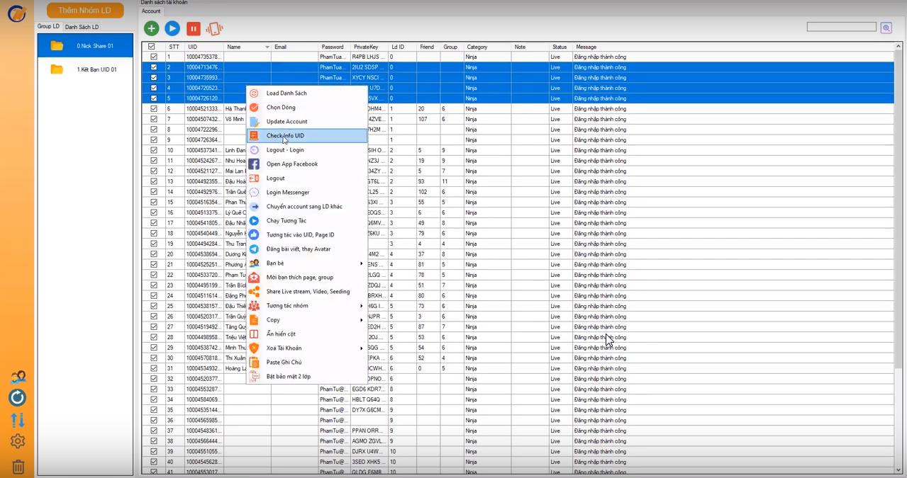 b2 check nick Ninja System – Hướng dẫn check thông tin nuôi nick Facebook