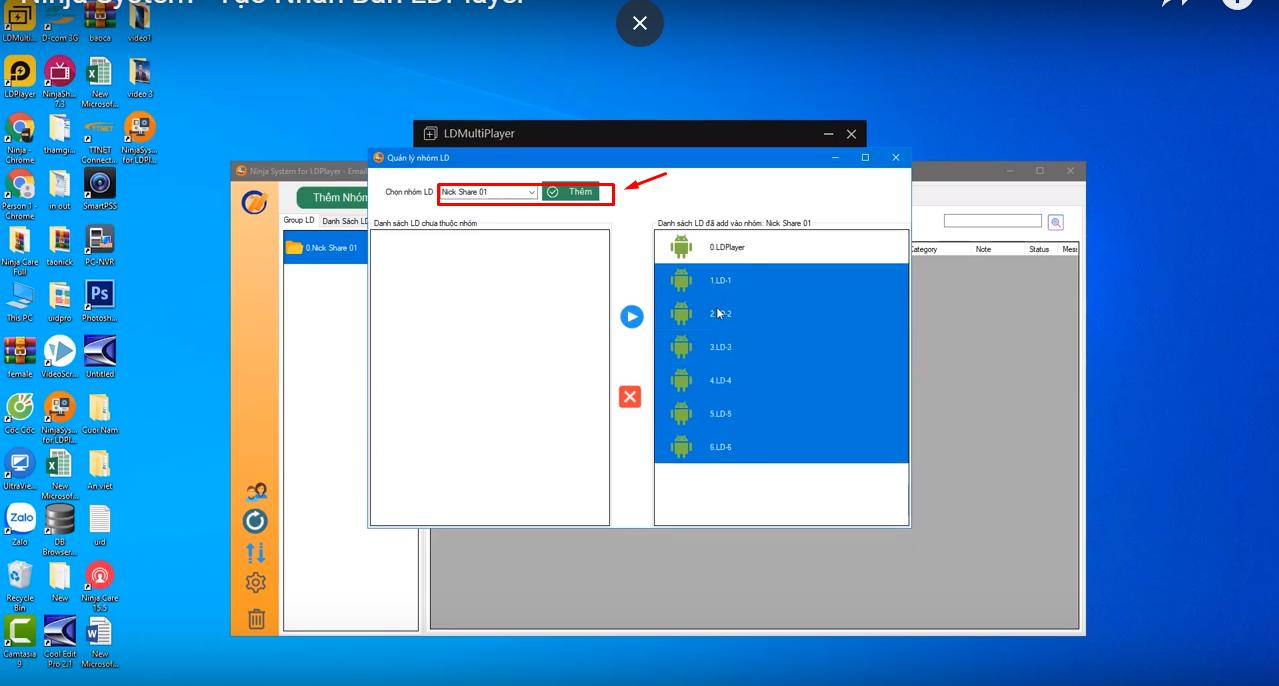b3 Hướng dẫn tạo nhân bản LD Player trình giả lập Adroid trên phần mềm Ninja System