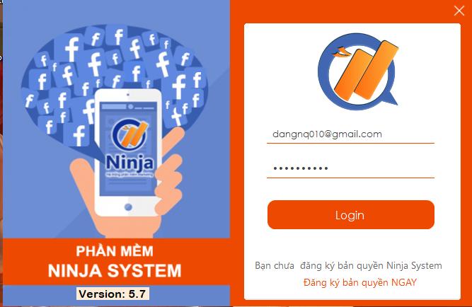 dang nhap tai khoan 1 Hướng dẫn thiết lập tương tác cho nick facebook trên Ninja System