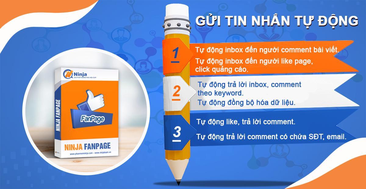 gui tin nhan tu dong 2 Gửi tin nhắn facebook tự động nhanh chóng với Ninja Fanpage