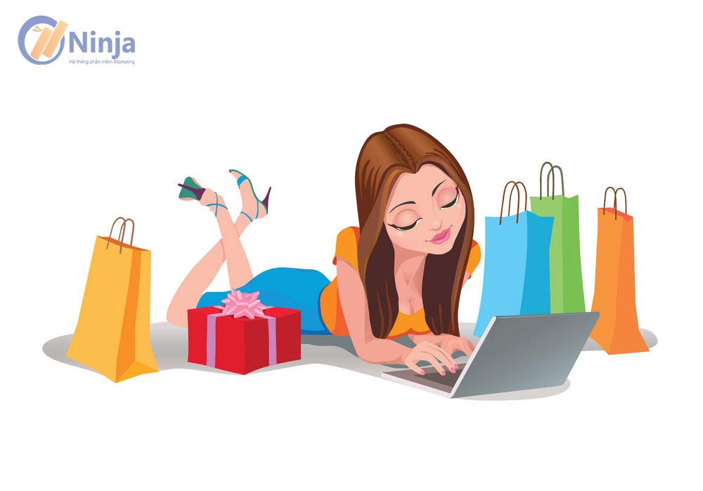 happy woman shopping online internet shopping vector 8085251 Làm giàu không khó với 4 xu hướng kinh doanh online hot nhất năm 2020