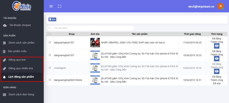 quản lý bàn hàng trên shopee 2 768x347 Mẹo đăng sản phẩm hàng loạt trên Ninja Shopee mà bạn nên biết