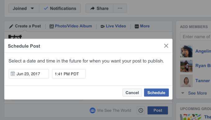scheduled posts 02 Kinh nghiệm quản lý Group Facebook thời 4.0