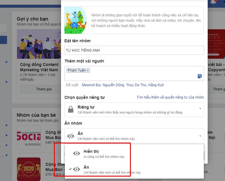 tao nhom facbook 5 Hướng dẫn cách tạo nhóm facebook nhanh chóng