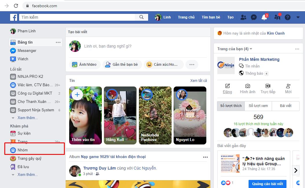 tao nhom facebook Hướng dẫn cách tạo nhóm facebook nhanh chóng