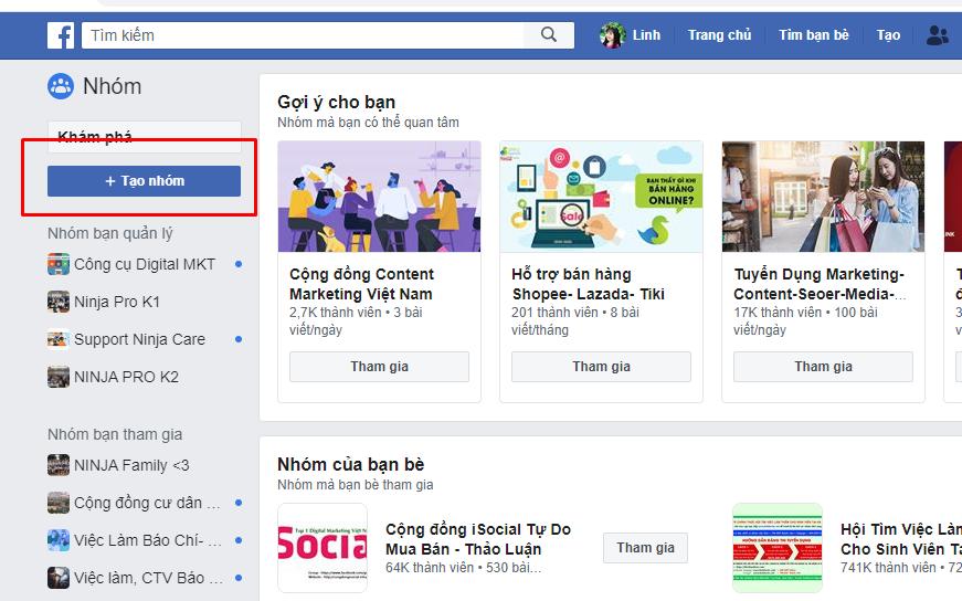 tao nhom facebook1 Hướng dẫn cách tạo nhóm facebook nhanh chóng
