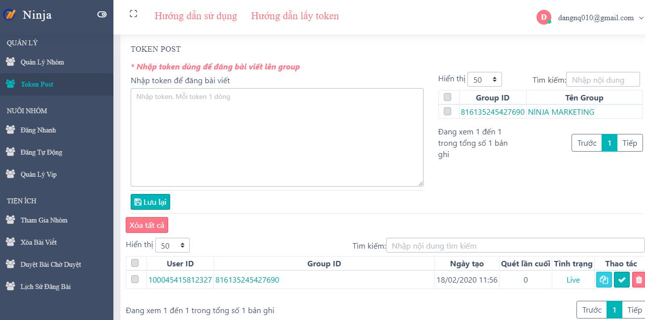token post Ninja Group   Phần mềm quản lý group tự động chuyên nghiệp