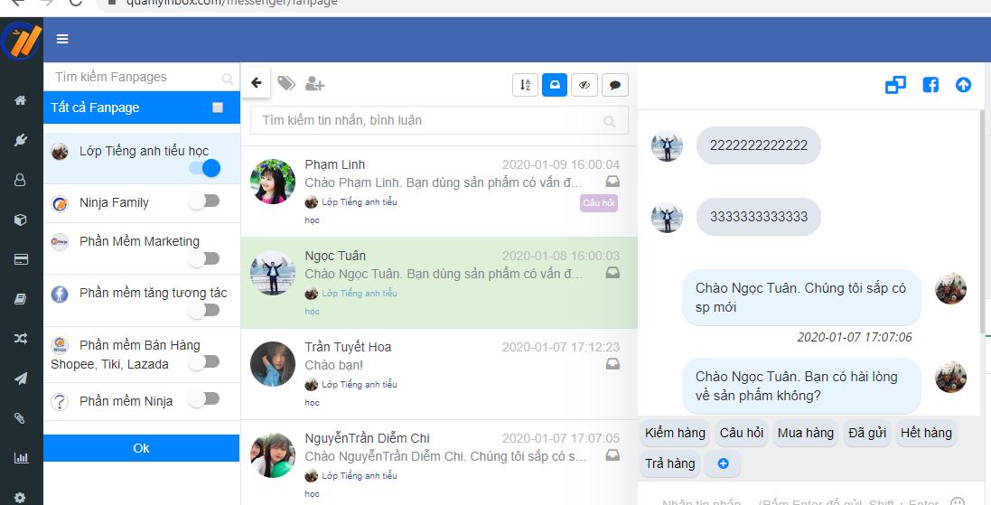 tra loi comment tu dong Quản lý comment inbox số lượng lớn trên facebook bạn đã biết chưa?