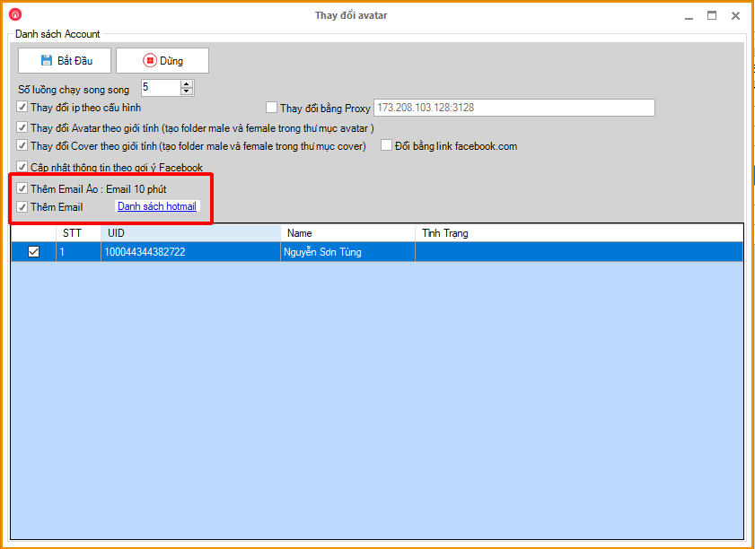 6ca87ca85366a838f177 Update tính năng thêm hotmail trong phần mềm Ninja Care