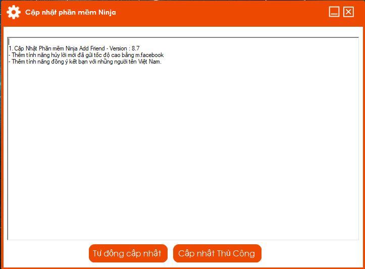 88aeac09e0131b4d4202 Cập nhật phần mềm kết bạn tự động Ninja Add Friend version 8.7