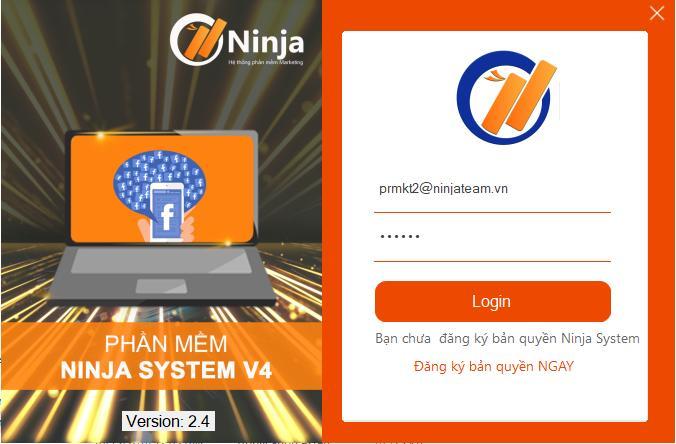 Ninja System v4 Hướng dẫn tải phần mềm quảng cáo bán hàng facebook Ninja System