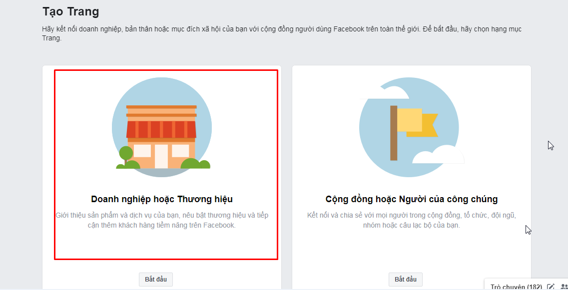 Screenshot 1 Hướng dẫn cách tạo fanpage Facebook 2020 đơn giản và hiệu quả nhất