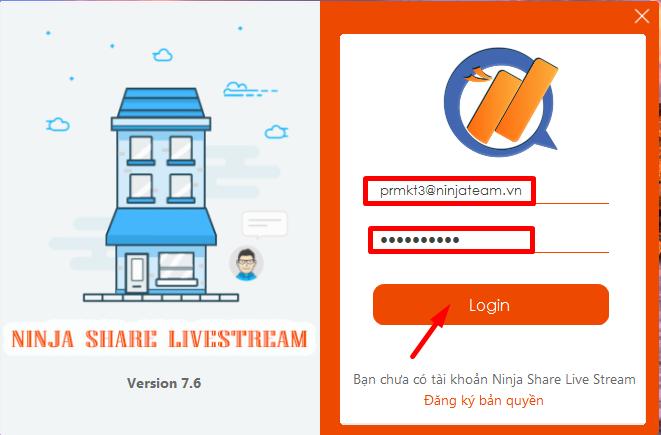 Screenshot 4 Hướng dẫn sử dụng phần mềm Ninja Share Livestream phiên bản 7.9