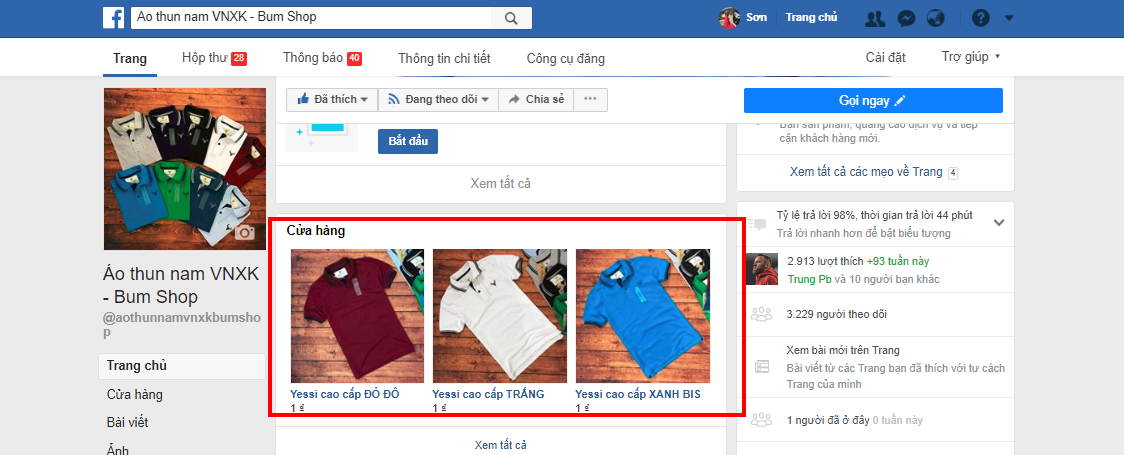 cua hang tren fanpage Hướng dẫn cách tạo fanpage Facebook 2020 đơn giản và hiệu quả nhất