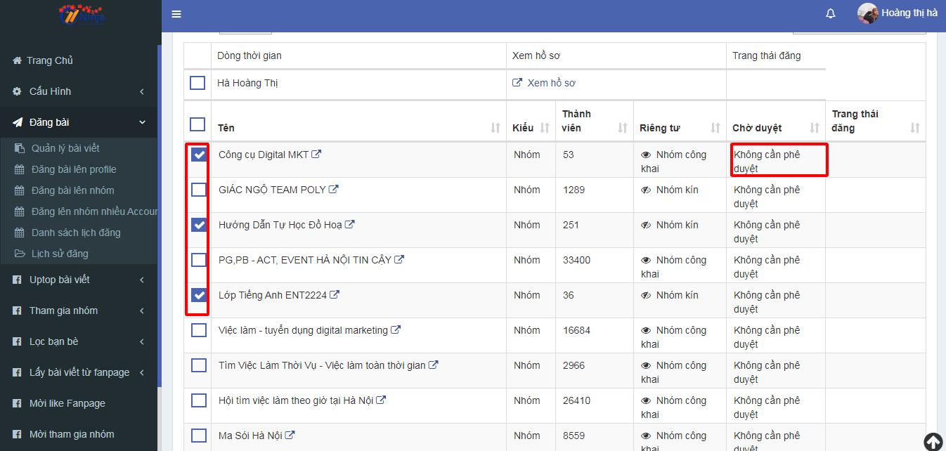 gd1 Làm thế nào để đăng bài lên nhóm tự đông bằng phần mềm Auto Post