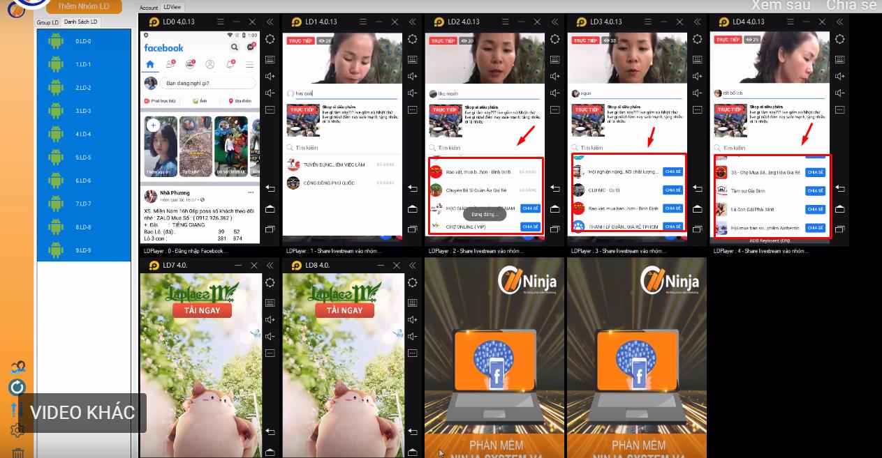 ninja system share livestream4png Bí kíp chia sẻ livestream tự động, hiệu quả bằng Ninja System