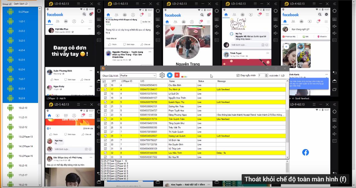 phan mem nuoi nick dien thoai8 Hướng dẫn chạy tương tác nick nhanh chóng trên phần mềm Ninja System V4