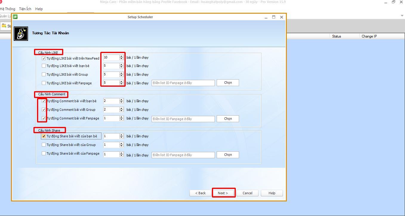 phan mem nuoi nick facebook 3 1 6 thao tác lập lịch đăng tin bằng phần mềm nuôi nick facebook 15.9