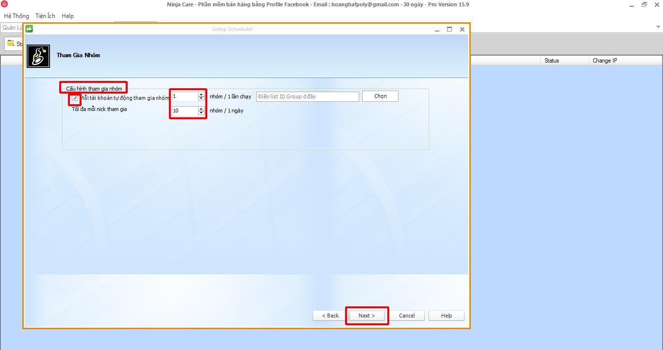 phan mem nuoi nick facebook 4 1 6 thao tác lập lịch đăng tin bằng phần mềm nuôi nick facebook 15.9
