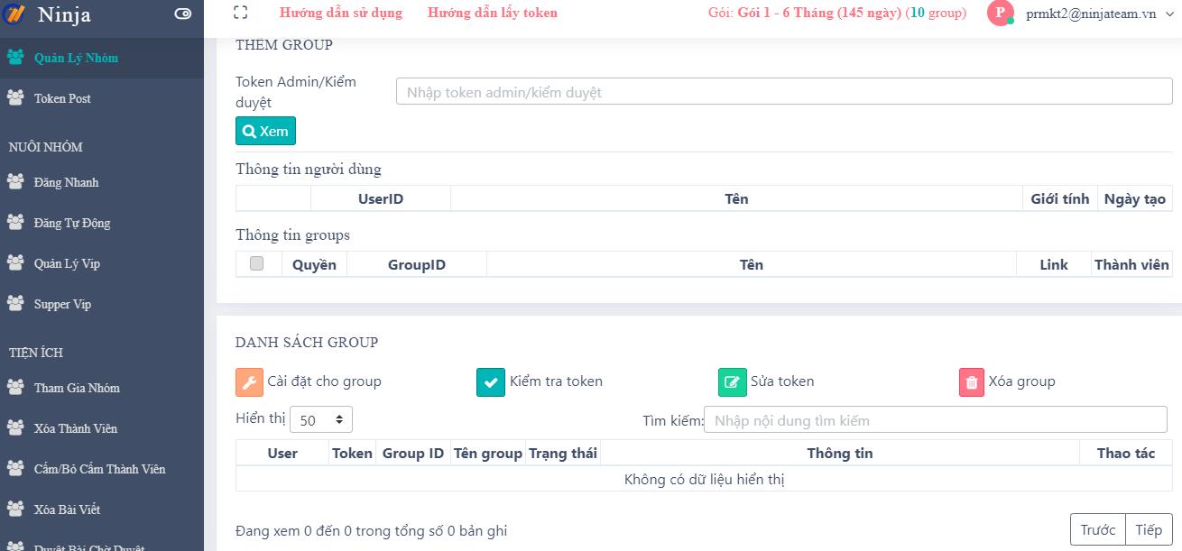 quan ly nhom 3 tiện ích ở phần mềm quản lý groups số lượng lớn Ninja Group