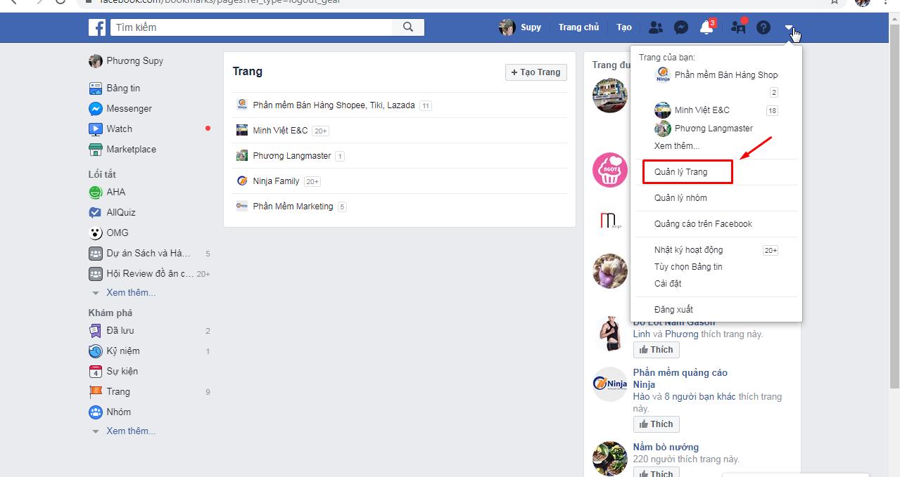 quan ly trang Hướng dẫn cách tạo fanpage Facebook 2020 đơn giản và hiệu quả nhất