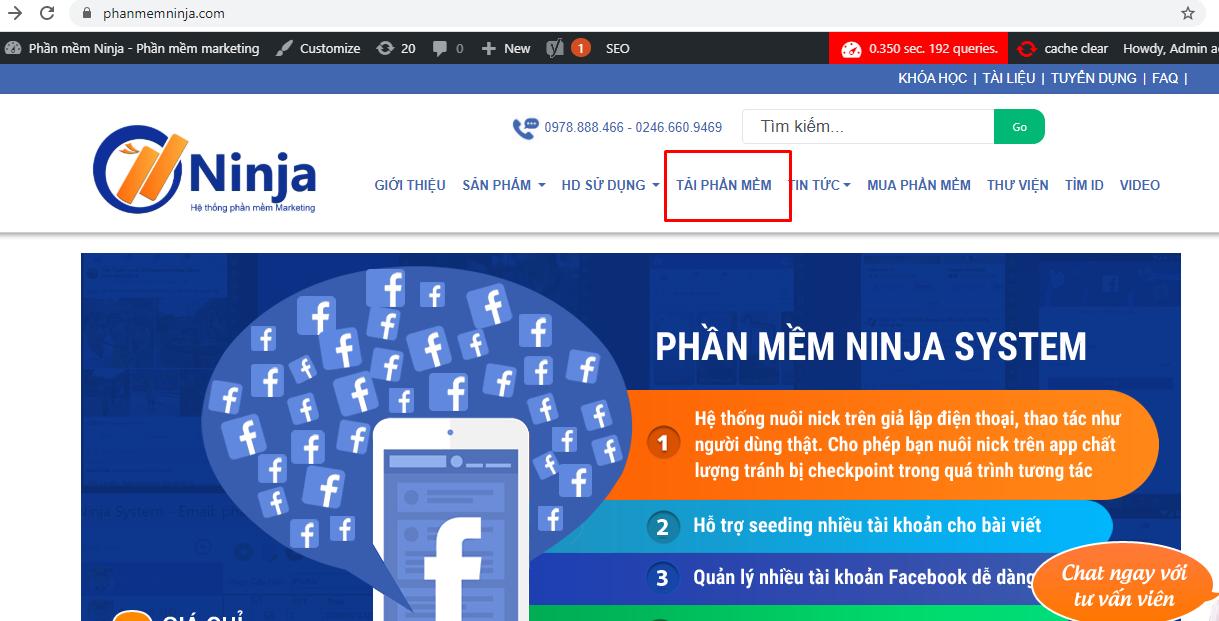 tai phan mem system1 Hướng dẫn tải phần mềm quảng cáo bán hàng facebook Ninja System