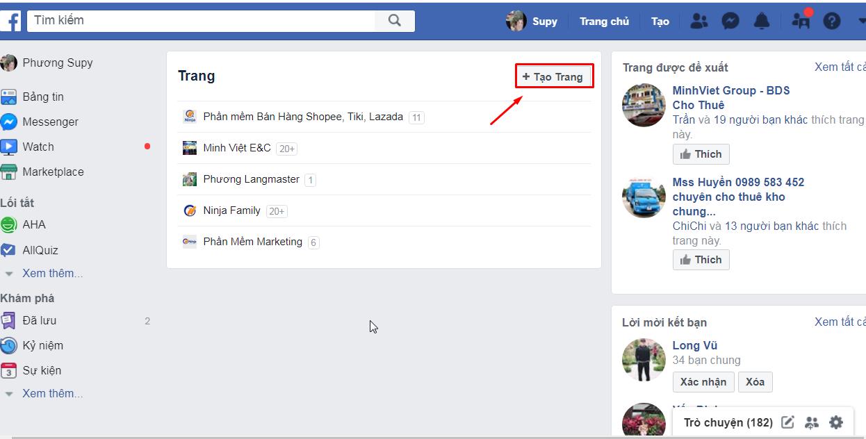 tao trang 1 Hướng dẫn cách tạo fanpage Facebook 2020 đơn giản và hiệu quả nhất