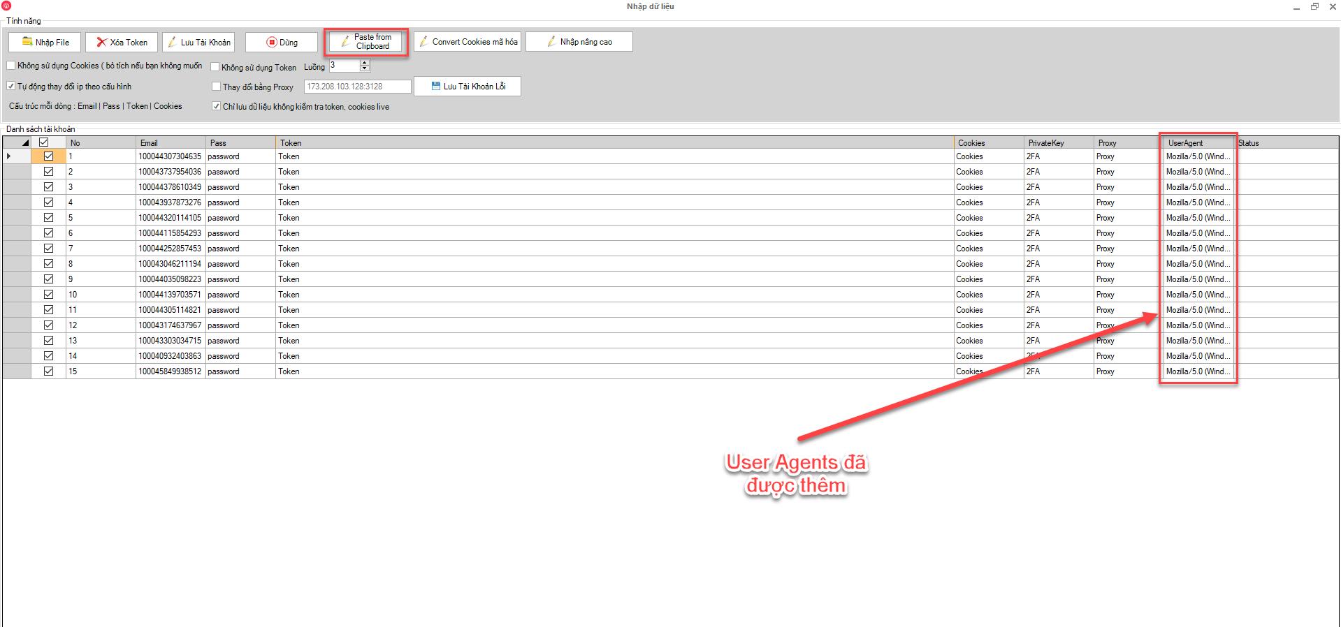 Snag 1abf32ef Lưu ý nuôi nick phần mềm Ninja Care với User Agents
