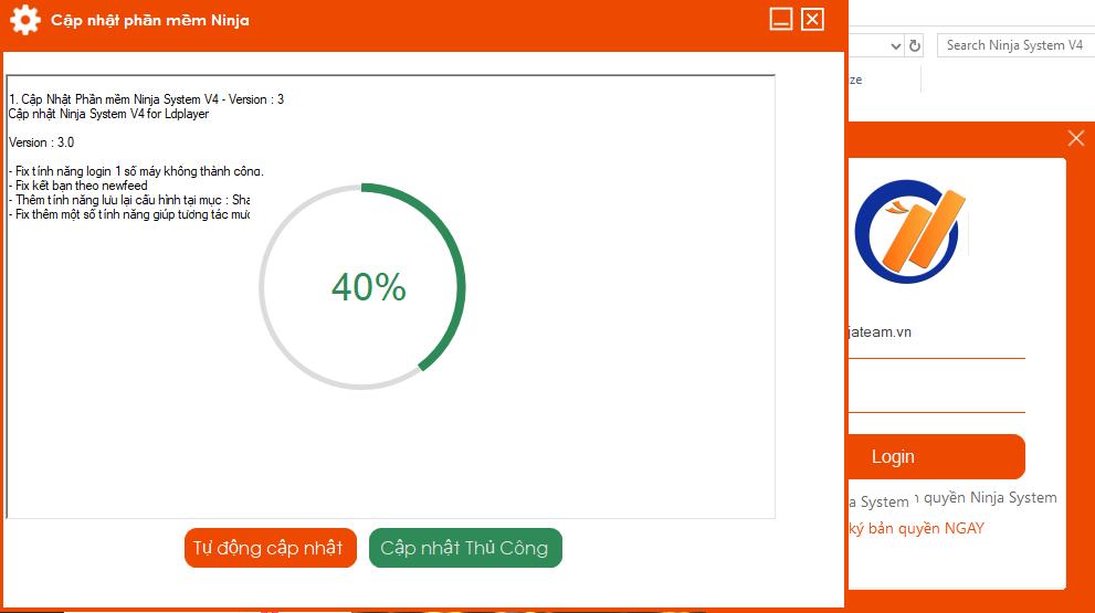cap nhat v4.3.0 Tools nuôi nick trên điện thoại Ninja System V4 for LDPlayer cập nhật version mới