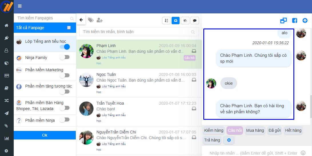 chatbot Xây dựng phần mềm gửi tin nhắn facebook chăm sóc sức khỏe mùa dịch