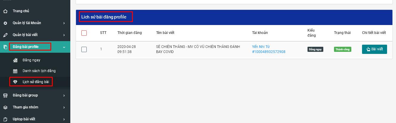 dang bai kem video.8png Hướng dẫn đăng bài kèm video lên Profile trên phần mềm đăng tin bán hàng