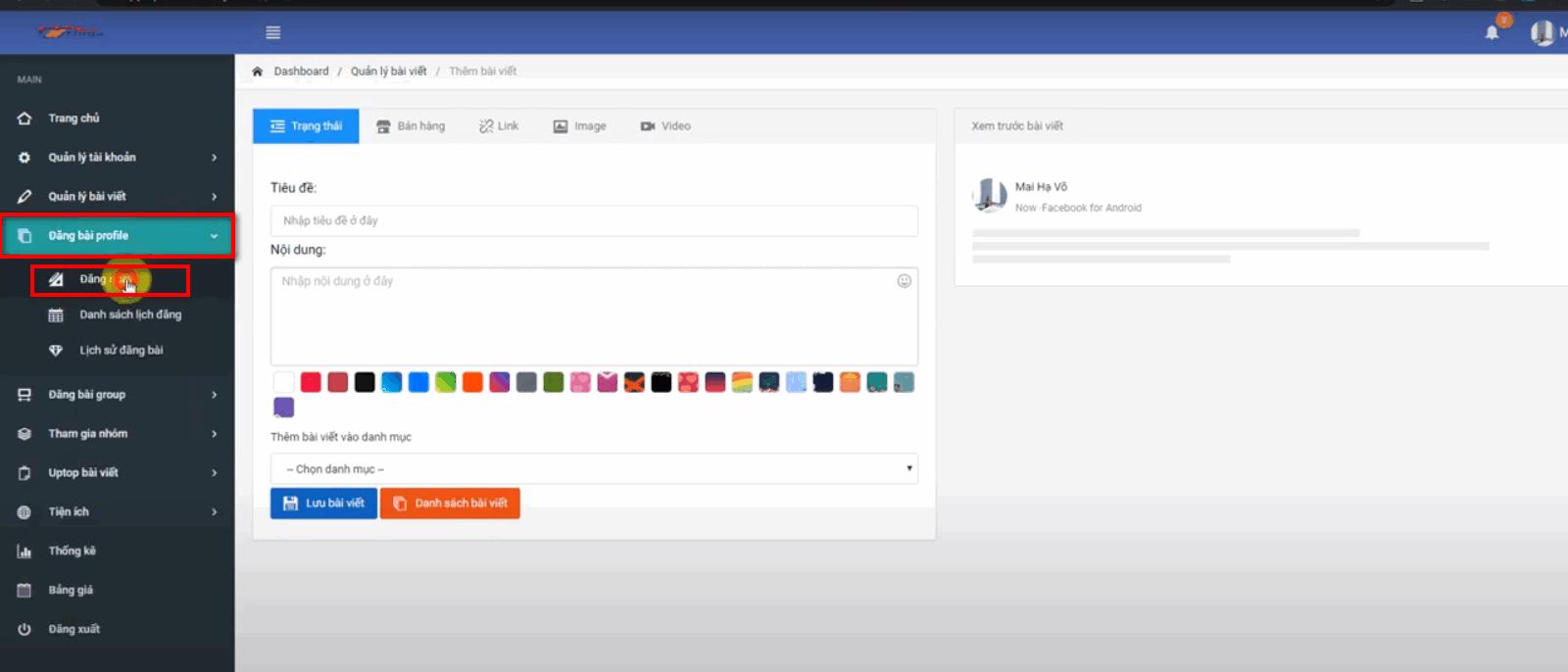 dang bai tu dong facebook 6 Hướng dẫn đăng bài tự động facebook lên Profile với Ninja Auto Post V2
