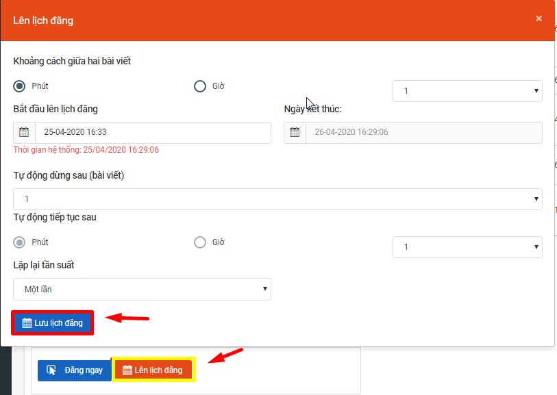 huong dan lap lich dang bai grouo4 Hướng dẫn lập lịch đăng bài lên nhóm với phần mềm post bài Facebook