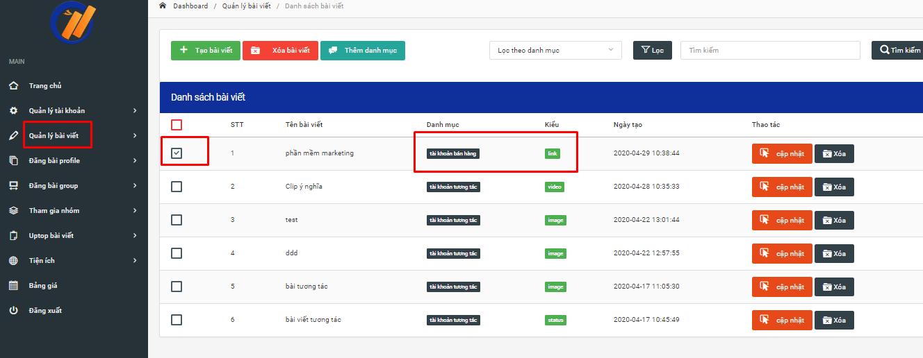kiem tra bai viet chua link Hướng dẫn đăng bài theo link trên phần mềm chăm sóc facebook Ninja Auto Post V2