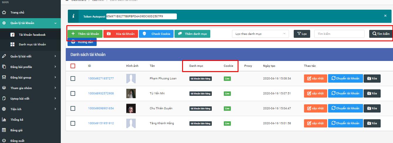 loc tim kiem danh muc Quản lý nhiều tài khoản facebook chuyên nghiệp với Phần mềm post bài tự động
