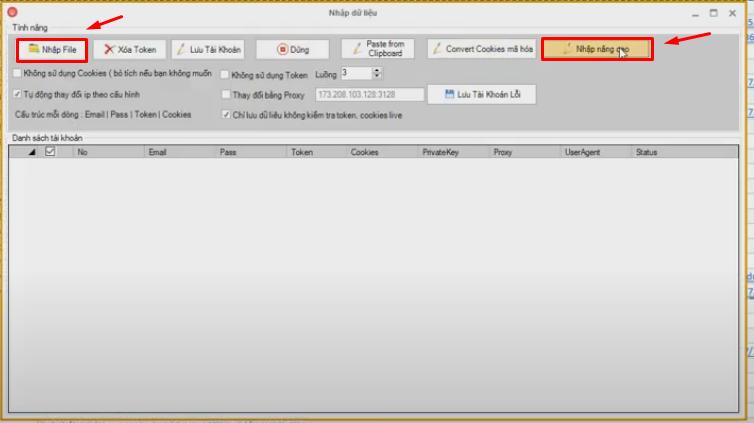 nhap file Hướng dẫn thêm Useragent của tool nuôi nick số lượng lớn