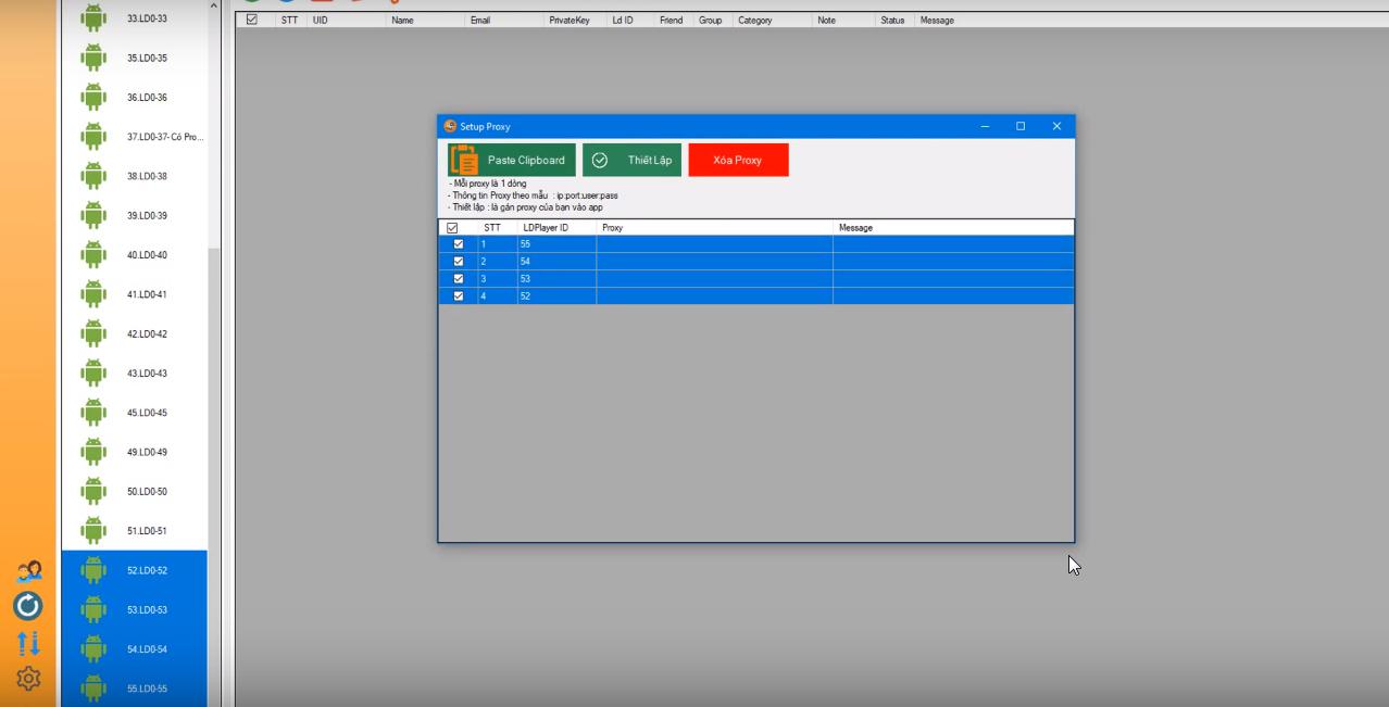 ninja system huong dan thiet lap Proxy cho LDplay2 Hướng dẫn thiết lập Proxy cho LDplay version 2.5 của phần mềm nuôi nick bán hàng