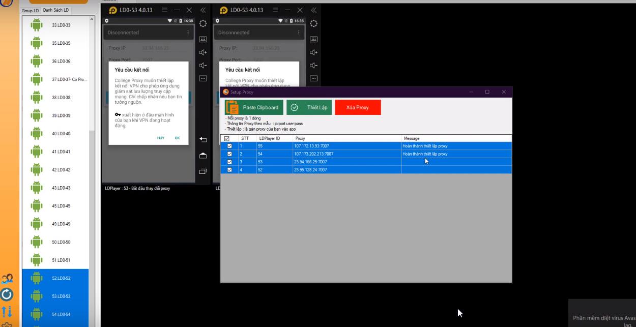 ninja system huong dan thiet lap Proxy cho LDplay7 Hướng dẫn thiết lập Proxy cho LDplay version 2.5 của phần mềm nuôi nick bán hàng