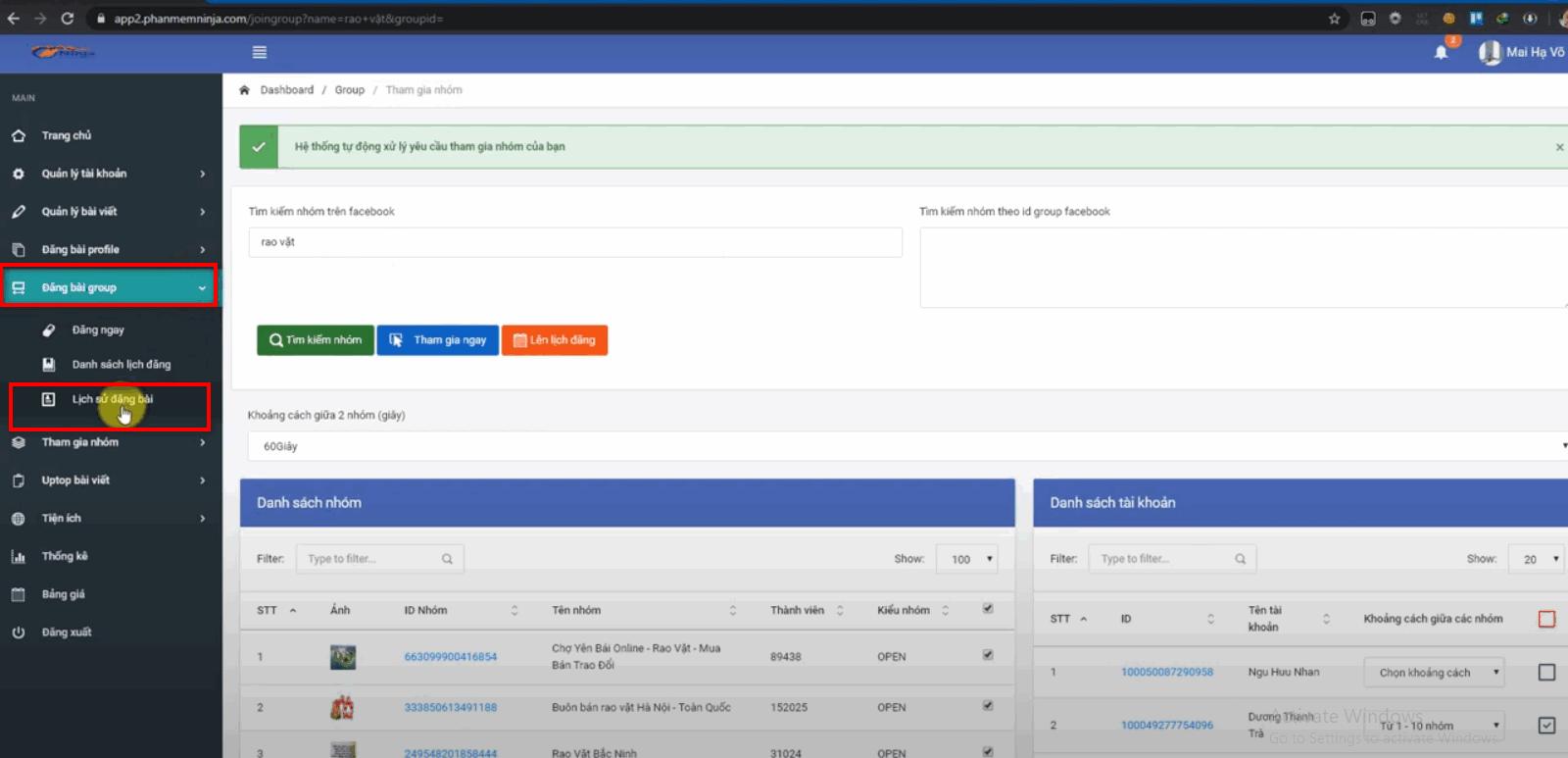 phan mem auto facebook 1 Phần mềm Auto Facebook hướng dẫn tham gia nhóm tại version mới