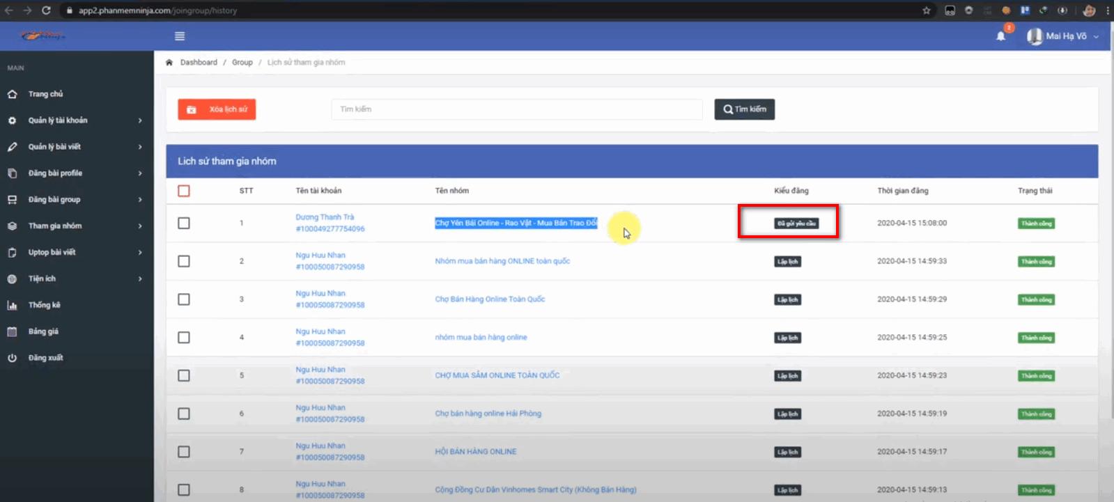 phan mem auto facebook 2 Phần mềm Auto Facebook hướng dẫn tham gia nhóm tại version mới