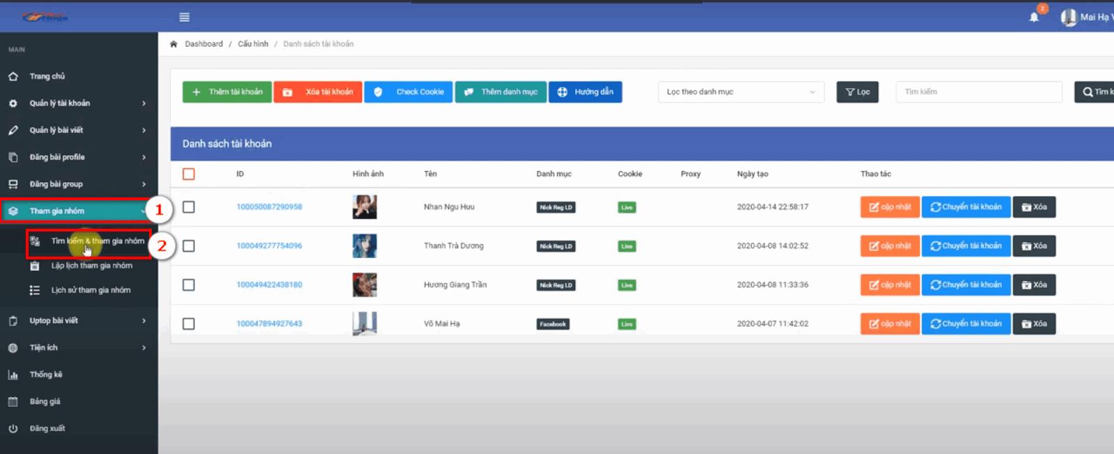 phan mem auto facebook 5 Phần mềm Auto Facebook hướng dẫn tham gia nhóm tại version mới