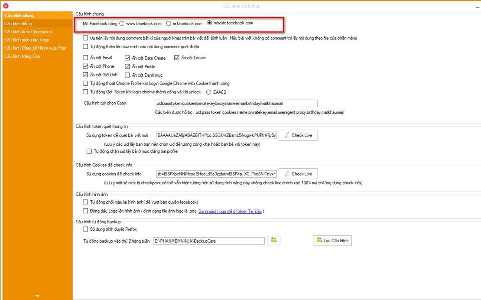 phan mem nuoi nick ban hang 1 Cập nhật phần mềm nuôi nick bán hàng Ninja Care version 16.4