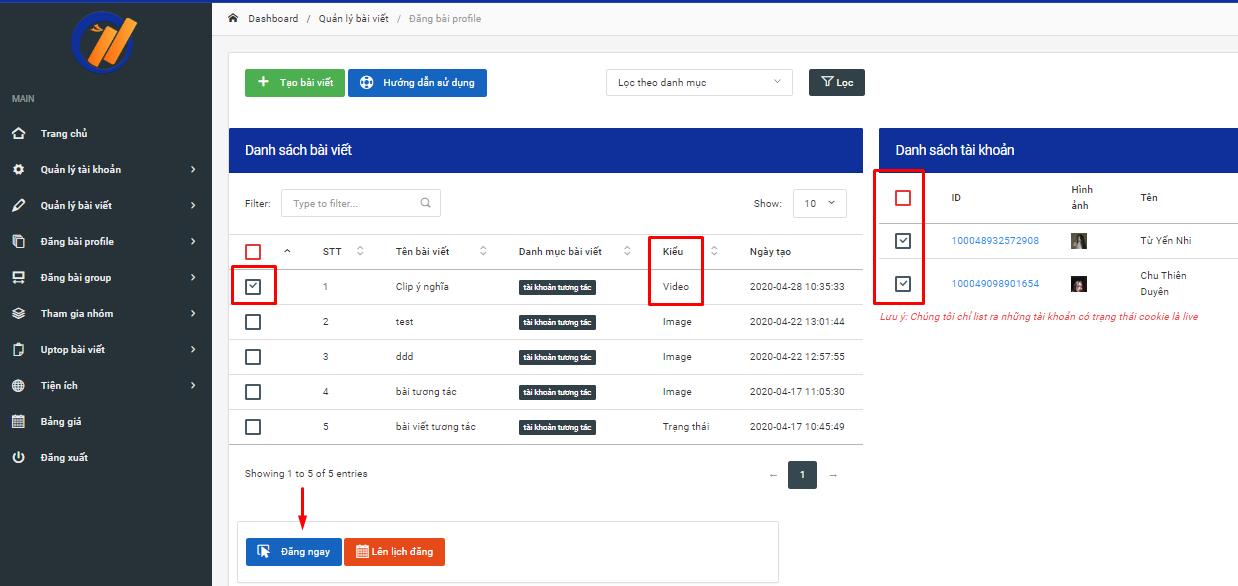tai video 3 Hướng dẫn đăng bài video trên Phần mềm nuôi nick bán hàng Facebook phiên bản V2