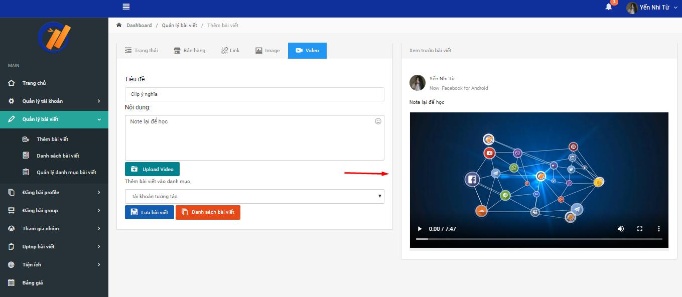 tai video Hướng dẫn đăng bài video trên Phần mềm nuôi nick bán hàng Facebook phiên bản V2
